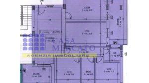 Attico nuova costruzione 130mq con garage